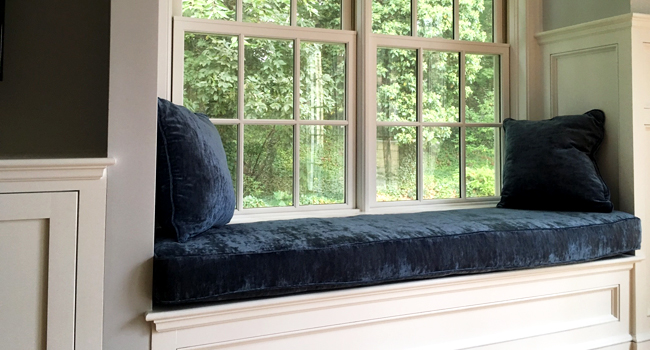 Window Seat Cushions by Fabric Creations of Cape Cod, MA